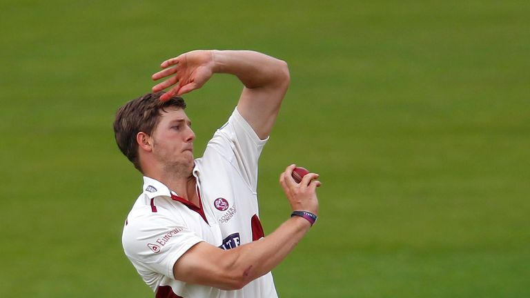 Craig Meschede: Helped Somerset reduce Surrey to 195-8 on opening day