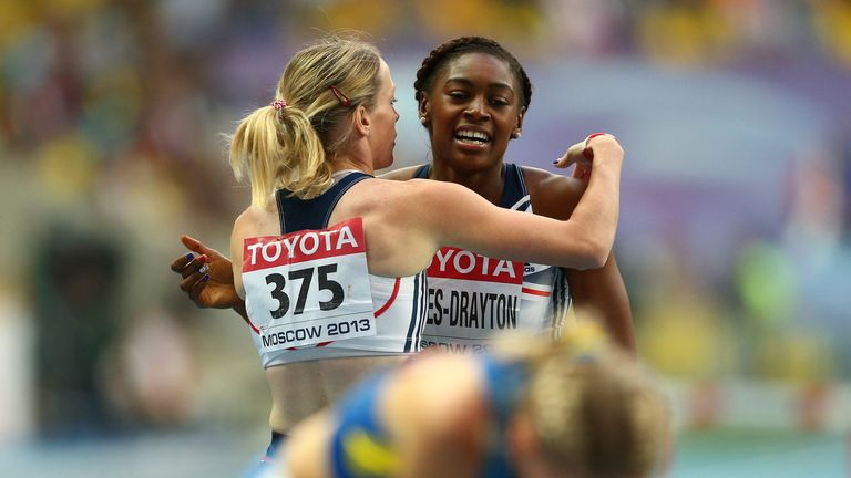 Eilidh Child (left) and Perri Shakes-Drayton: Disappointment in Moscow