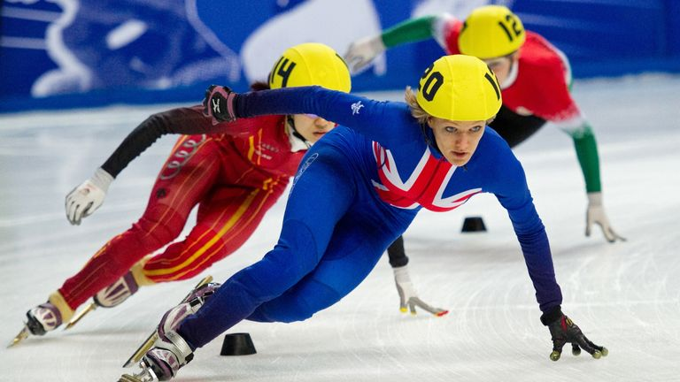 Elise Christie: Won through to the 1500m quarter-final without incident