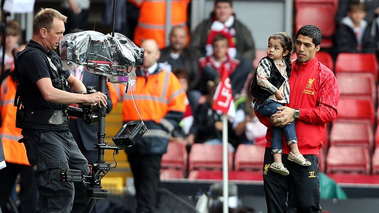 Luis Suarez: Liverpool striker makes Anfield appearance