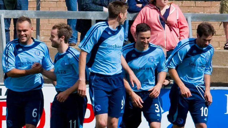 Gavin Swankie: Celebrates goal for Forfar against Rangers