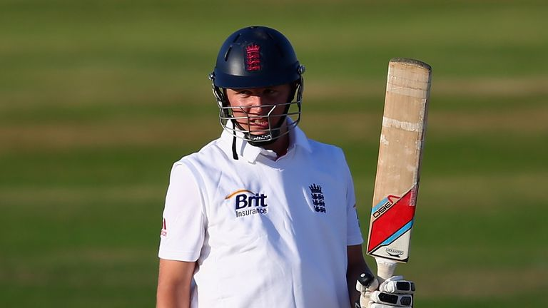 Gary Ballance: Reached his century with a six before falling to the very next ball