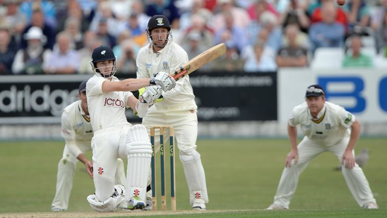 Kane Williamson: Unbeaten on 76 at the close of day two at Scarborough