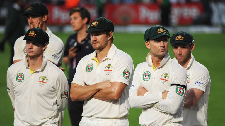 Michael Clarke and his Australia squad have to watch England celebrate at the Oval