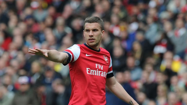 Lukas Podolski: Under contract at the Emirates until 2016