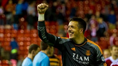 Langfield played for Aberdeen in the League Cup final in March