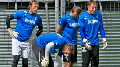 Scott Gallacher (far right) training with Steve Simonsen and Cammy Bell