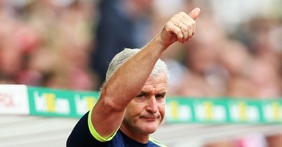 Mark Hughes: Happy with work in the window
