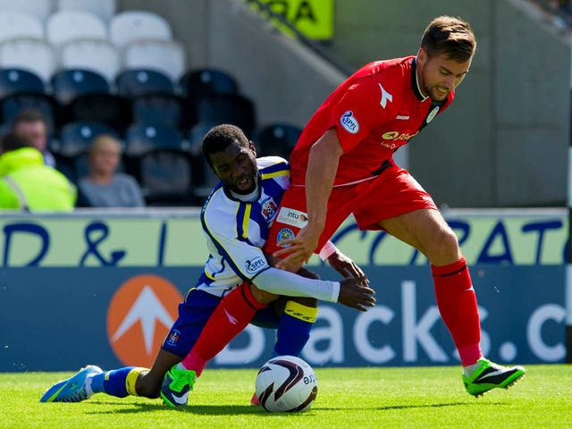 Rabiu Ibrahim slides in on Darren McGregor
