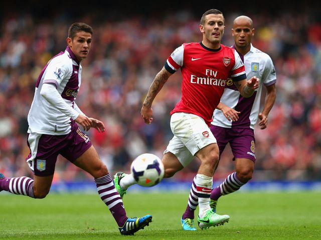Jack Wilshere in action for Arsenal on the opening day