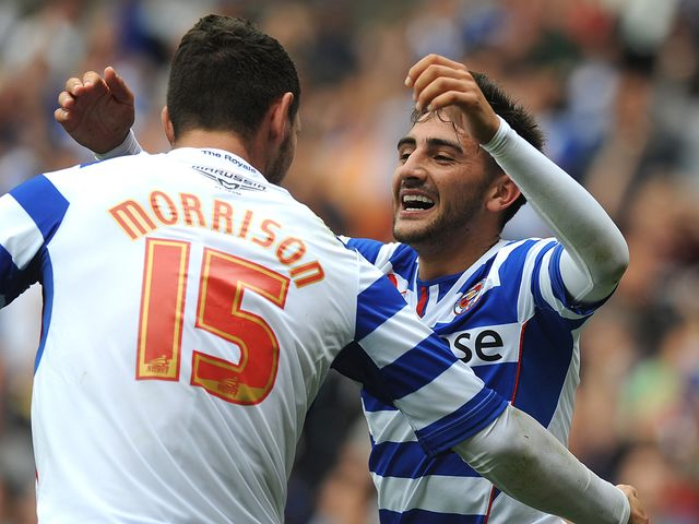 Jem Karacan celebrates for Reading