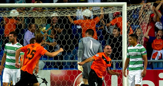Andrei Finonchenko: Celebrates Karagandy's opening goal
