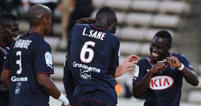 Henri Saivet dances to celebrate his goal.