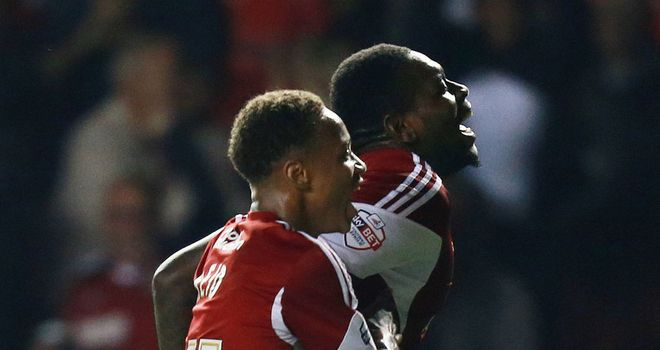 Emmanuel-Thomas: Rescued a point for Bristol City