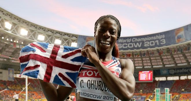 Christine Ohuruogu celebrates second world title