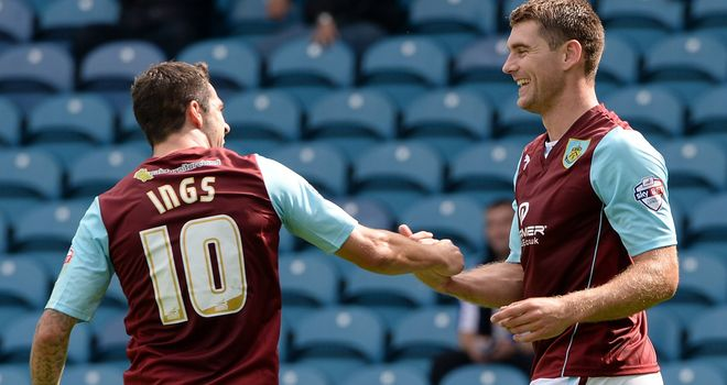 Danny Ings and Sam Vokes celebrate another goal at Derby