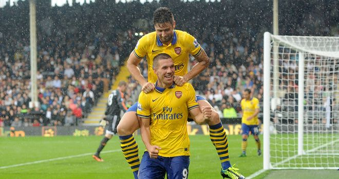 Olivier Giroud and Lukas Podolski seem keen to establish their worth for Arsenal