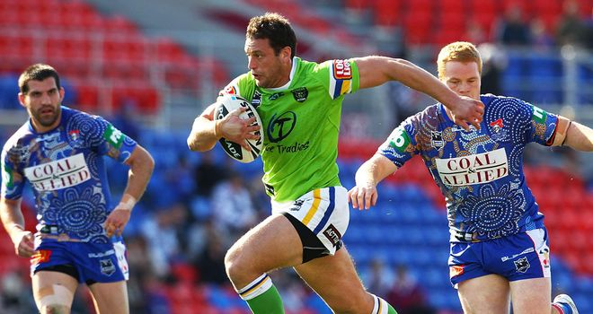 Danny Galea in action for Canberra Raiders