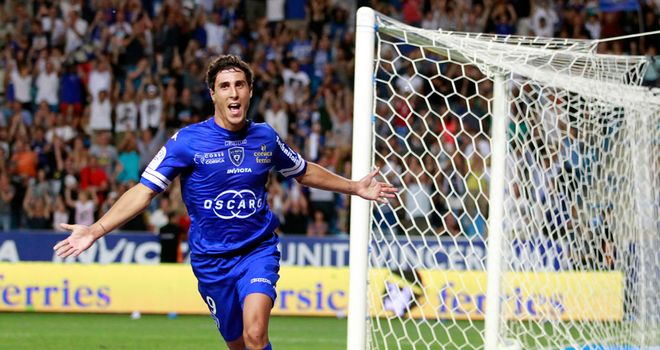 Gianni Bruno celebrates for Bastia