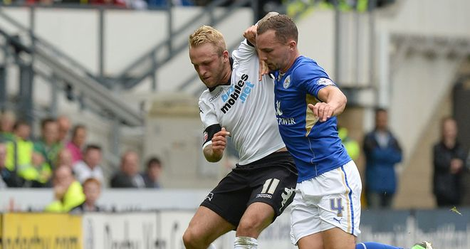 Johnny Russell (c): Scored both of Derby's goals