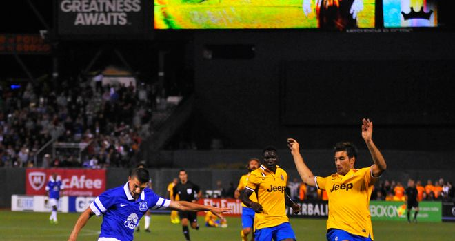 Kevin Mirallas: On the mark for Everton in San Francisco