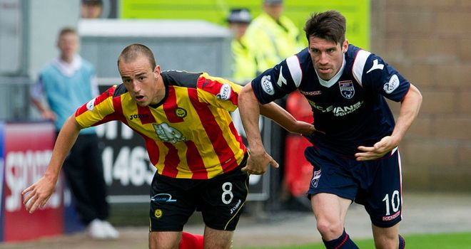 Stuart Bannigan: Partick midfielder in action against Ross earlier this season