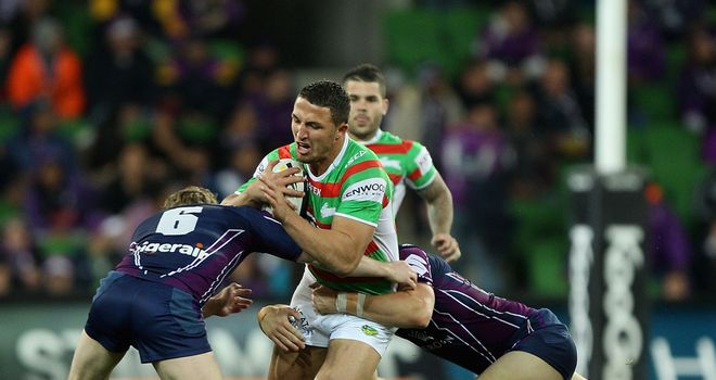 "Sam Burgess: Pleaded guilty to a ""squirrel-grip"" tackle during the Rabbitohs' defeat to the Storm"