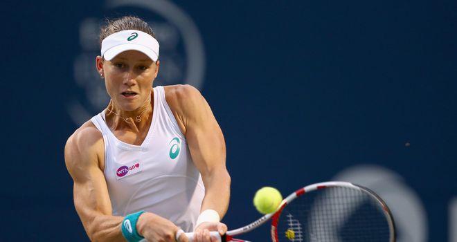 Samantha Stosur: Made light work of Russia's Svetlana Kuznetsova on Monday in Cincinnati