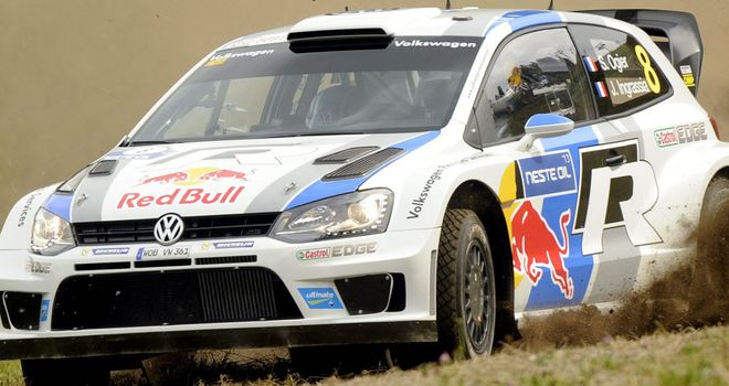 Sebastian Ogier ahead in Rally Germany