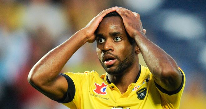 Cedric Bakambu shows his frustration.