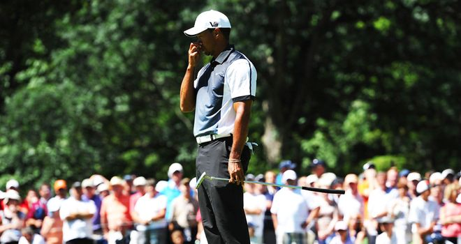Tiger Woods remained philosophical despite seeing another major slip by