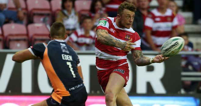 Josh Charnley: two tries for Wigan