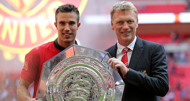 A satisfactory afternoon's work for Robin van Persie and David Moyes at Wembley