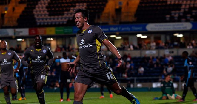 Leicester celebrate as Sean St Ledger snatches late winner