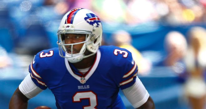Quarterback EJ Manuel in action for the Buffalo Bills
