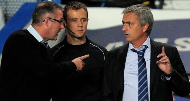 Paul Lambert and Jose Mourinho: Have a difference of opinion