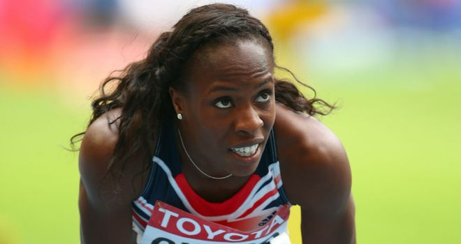 Marilyn Okoro finished second in her 800m heat at the World Championships
