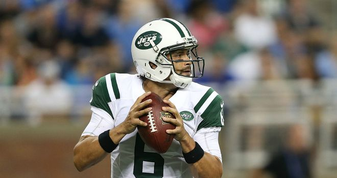 Mark Sanchez of the New York Jets during NFL 2013 pre season