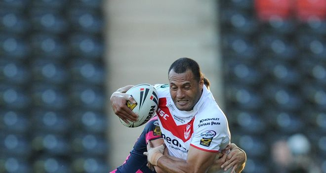 Francis Meli: Scored a pair of tries in St Helens' win over London Broncos