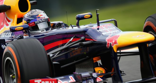 Sebastian Vettel: Looking ominously strong in the Ardennes