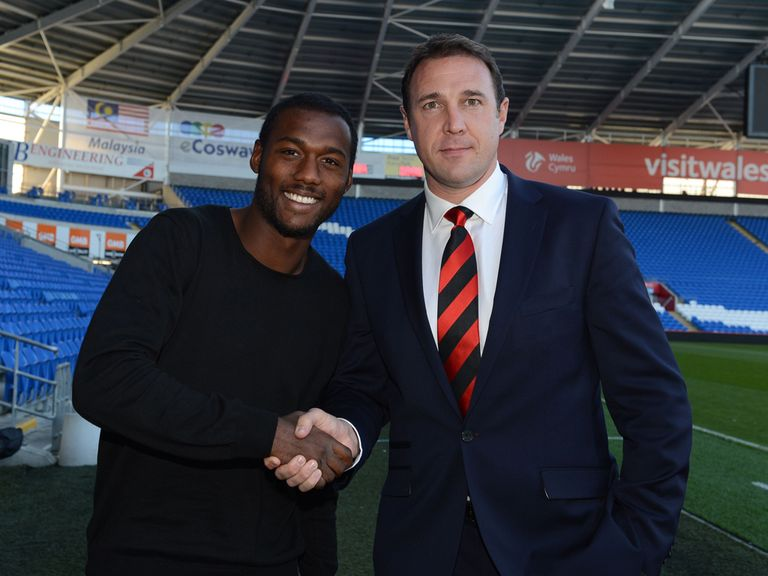 Kevin Theophile-Catherine with Malky Mackay.