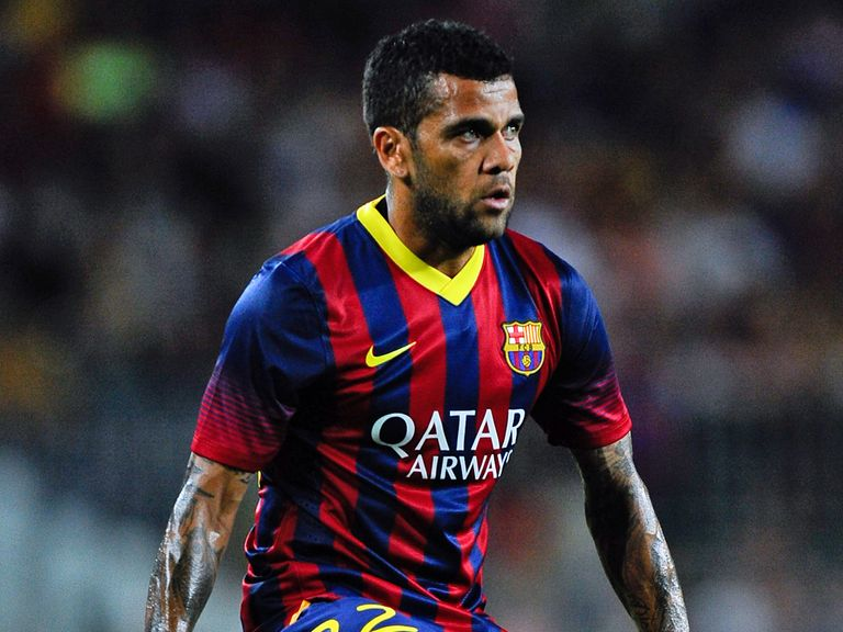 Dani Alves: Linked with a move to Manchester City