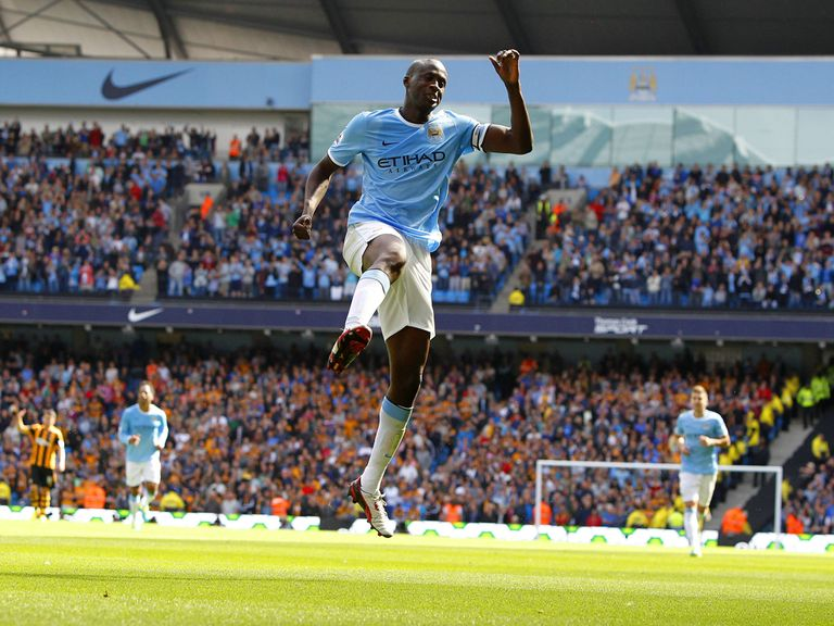 Yaya Toure sealed victory for City with a stunning free-kick