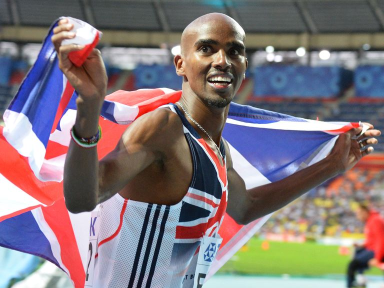 Mo Farah: Won the 5,000m in Moscow.