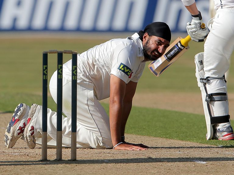 It was a hard day at the office for Essex debutant Panesar
