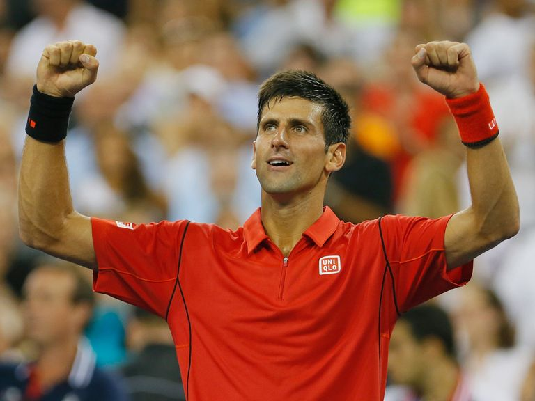 Djokovic was an easy winner in straight sets