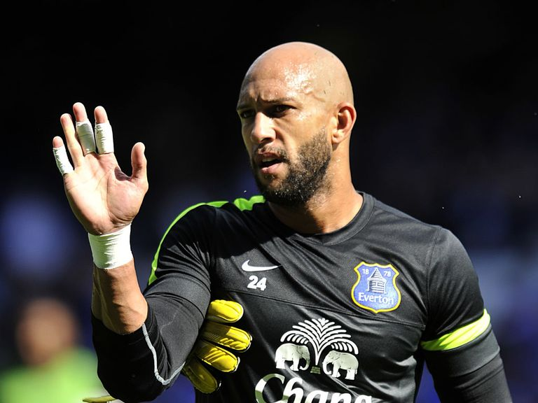 Tim Howard: Happy with Everton's start despite no wins
