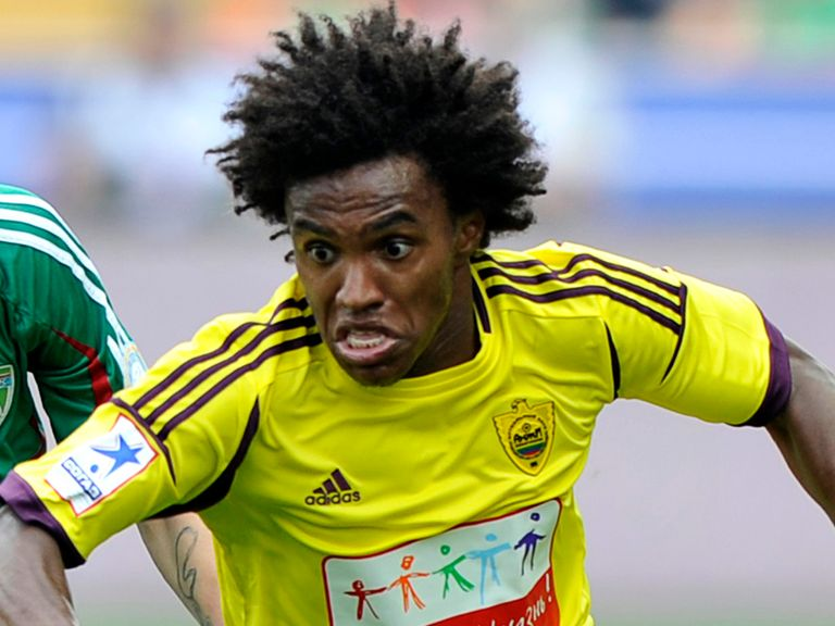 Willian: Knows he faces a tough fight for a starting role at Chelsea
