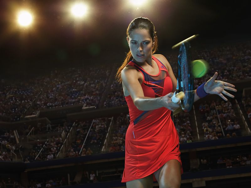 Ana Ivanovic will be kitted out in a similar colour by the same firm