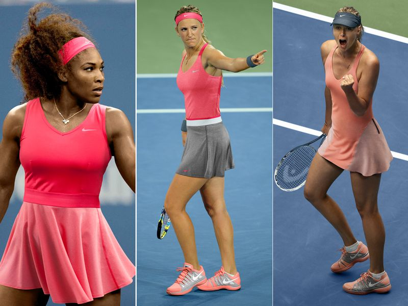 Serena Williams, Victoria Azarenka and Maria Sharapova will showcase these Nike designs